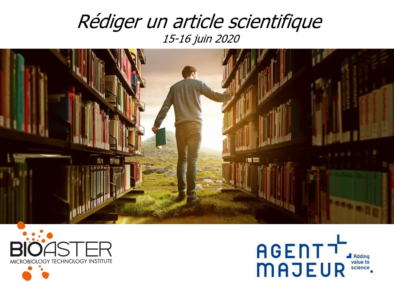 Affiche d'une formation sur la rédaction scientifique