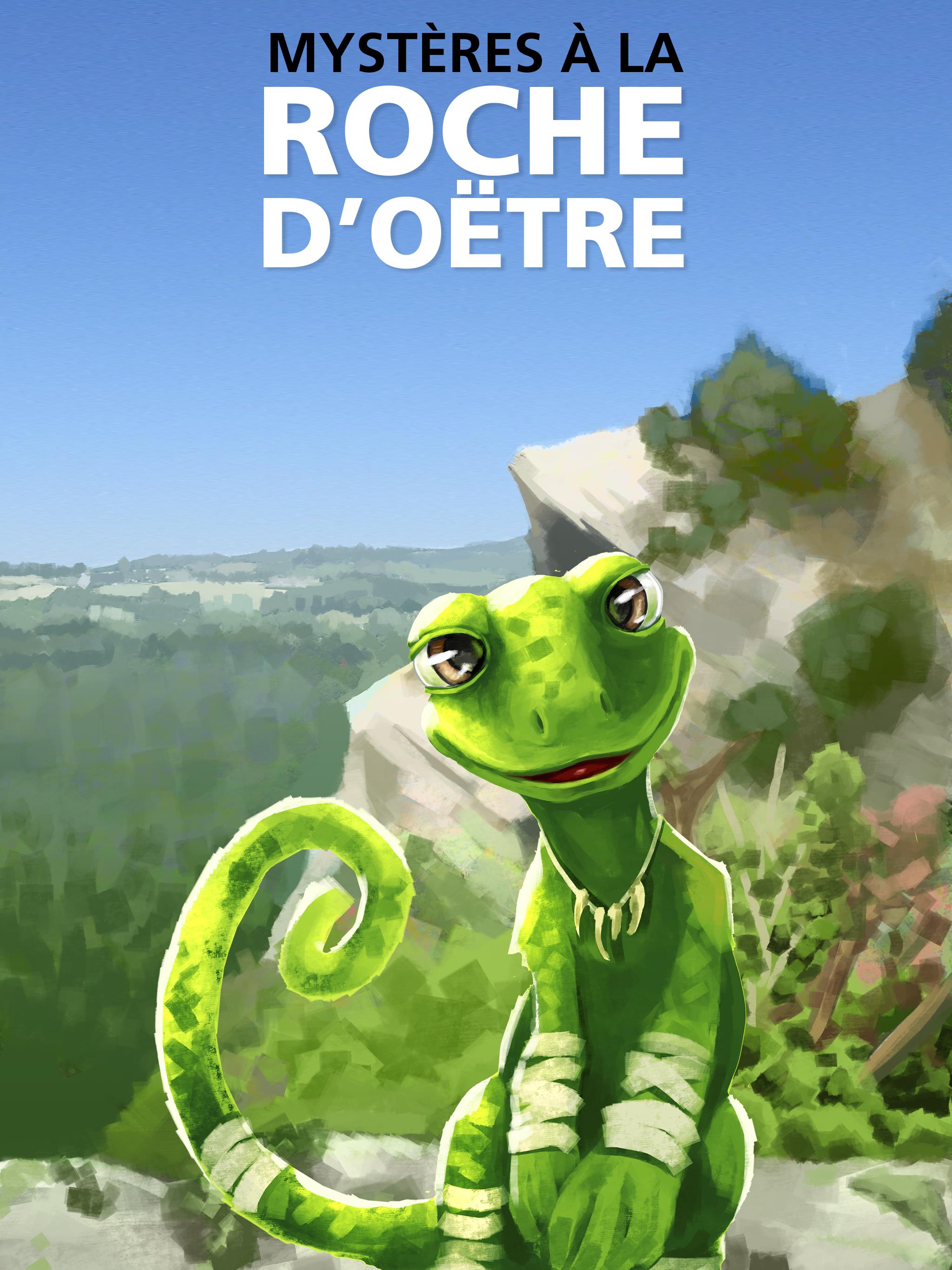 Visuel de l'application de jeu Mystères à la roche d'Oëtre