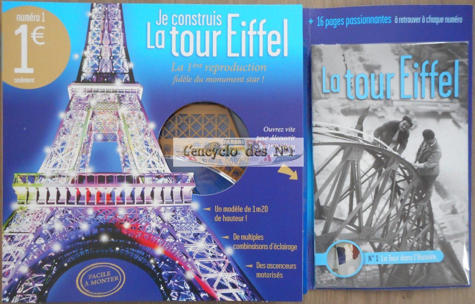 Fascicule pour construire la Tour Eiffel avec TF1 Vidéo